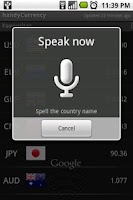 Screenshot of handyCurrency