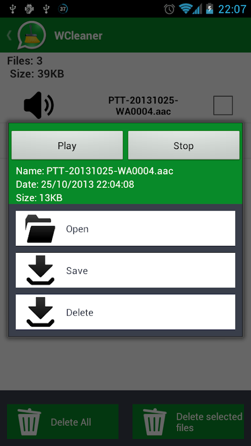 WCleaner for WA - screenshot