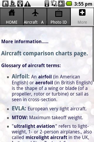 Aircraft Guide civil aircraft - screenshot