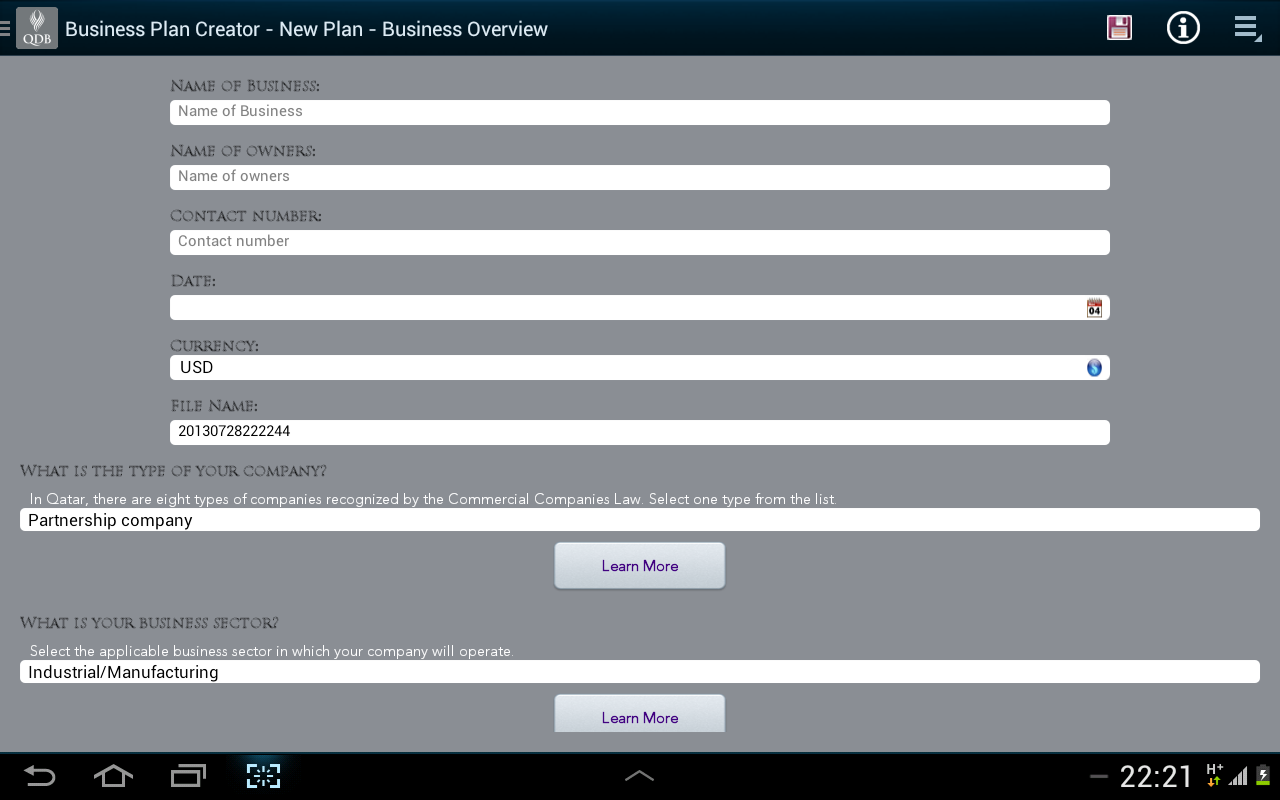 Business Plan Creator - Android Apps on Google Play