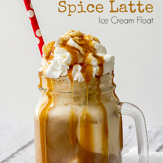 Pumpkin Spice Latte Ice Cream Float.