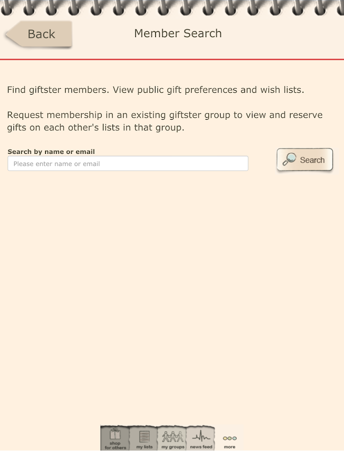 Giftster - Wish List Registry - screenshot