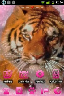Pink Tiger Theme GO Launcher - screenshot thumbnail