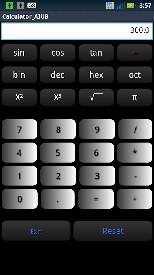 Calculator (open source)- screenshot