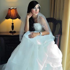 Indah by Jiboy Mandey - Wedding Bride ( glamour, sesakloverindonesia, jiboy, beauty, bride, nikon )