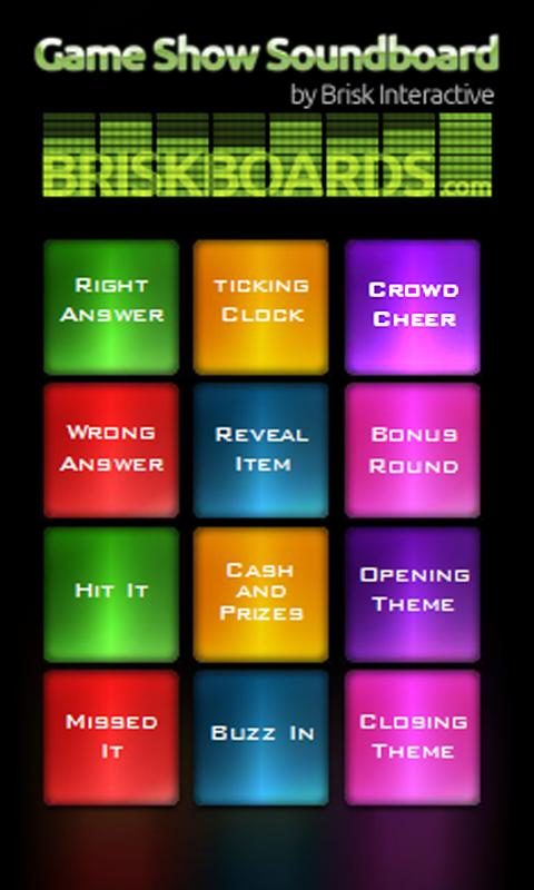 Game Show Soundboard - screenshot