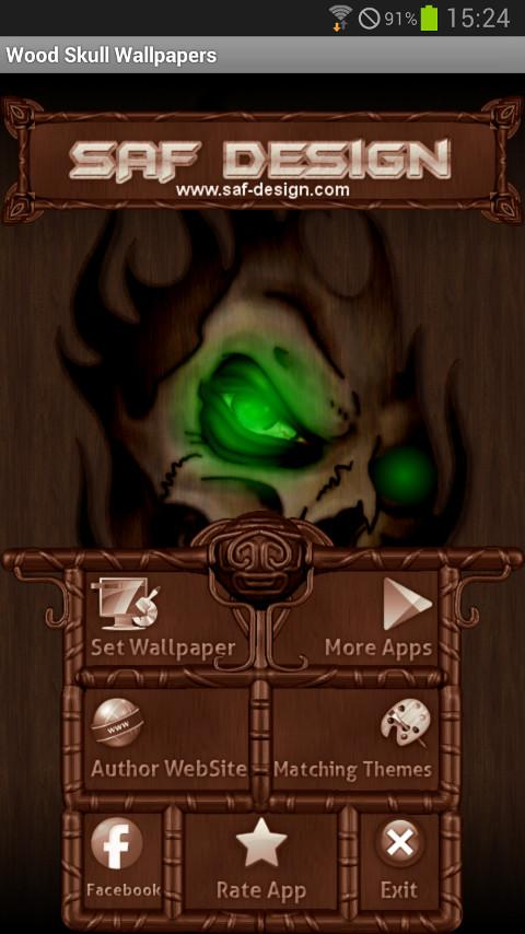 Wood Skull GO launcher EX - screenshot