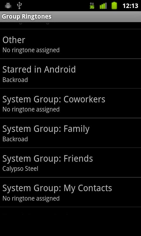 Group Ringtones - screenshot