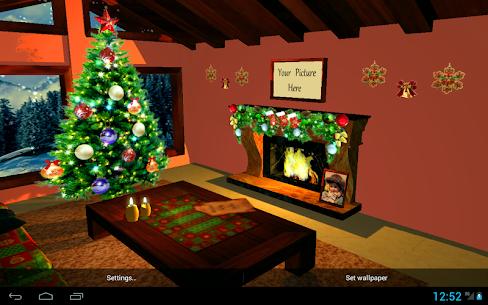 3D Christmas Fireplace Premium Wallpaper (Paid) 2