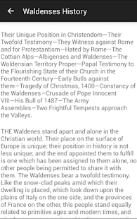 History of the Waldenses- screenshot thumbnail