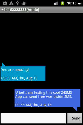 24SMS - Free International SMS - screenshot