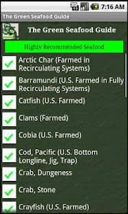 The Green Seafood Guide - screenshot thumbnail