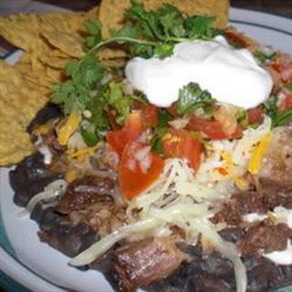 Delicious Beef Tongue Tacos.