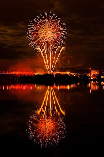 Fireworks 2013 in Pilsen 10 by Martin Zenisek - Abstract Fire & Fireworks ( mirror, water, pilsen, fireworks, night,  )