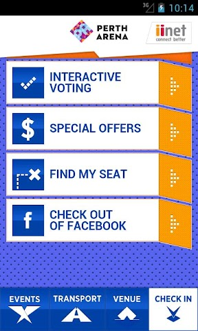 Screenshots for Perth Arena for Android