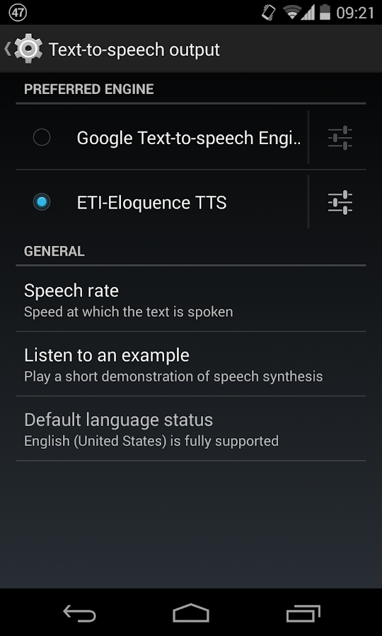 Eloquence Text To Speech- screenshot