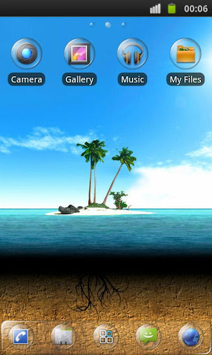 Clear Theme 4 GO Launcher EX v1.5