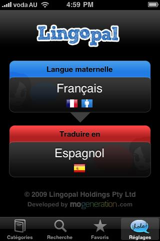 Lingopal Spanish Lite - screenshot