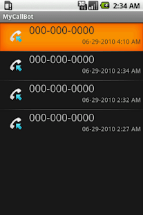 MyCallBot Caller ID - screenshot thumbnail
