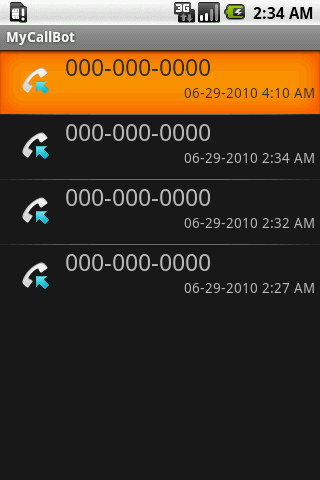 MyCallBot Caller ID- screenshot