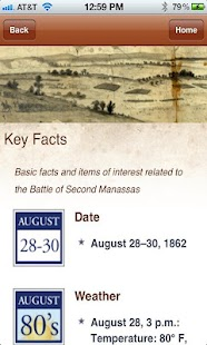 Second Manassas Battle App - screenshot thumbnail