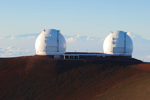 Maunakea-Observatories - Maunakea Observatories on the summit of Mauna Kea on the Big Island of Hawaii. Its 8-meter Gemini optical/IR telescope, operated by a consortium of seven countries, is one of the most important land-based astronomy sites in the world.