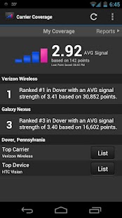 Carrier Coverage - screenshot thumbnail