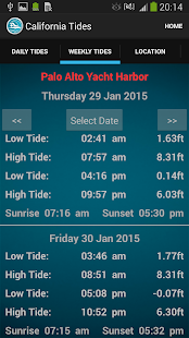 California Tide Times- screenshot thumbnail