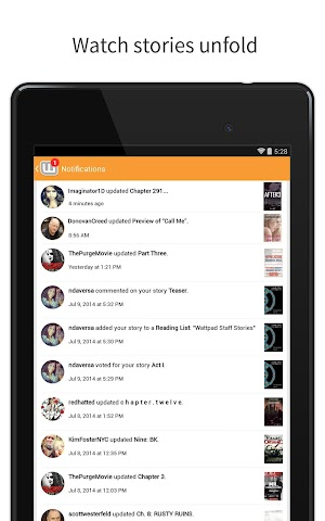 android Wattpad - Free Books & Stories Screenshot 8