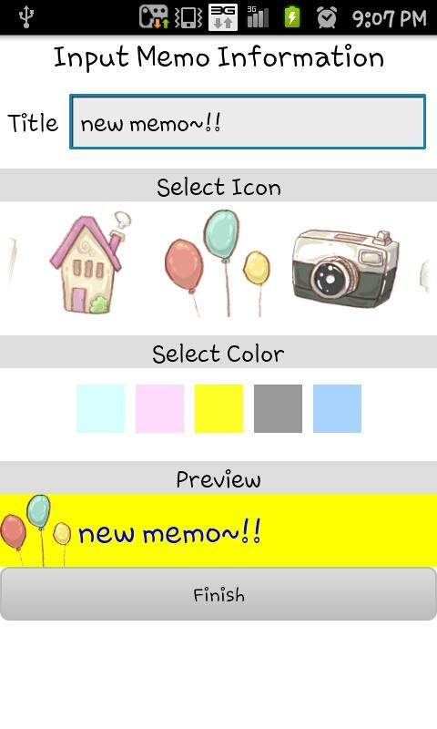 Cute memo - screenshot