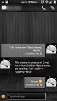 Screenshot of Black Wood White CM11 Theme