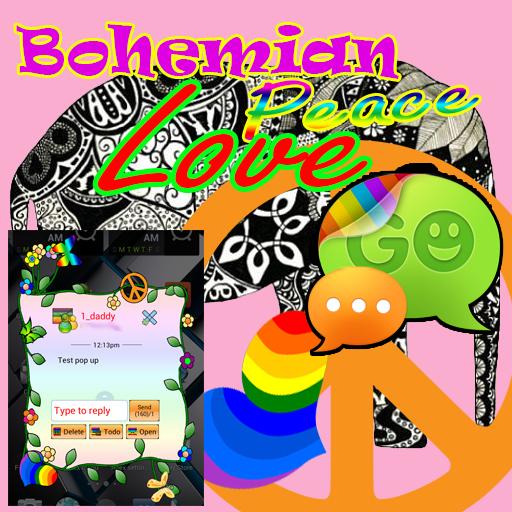 GO SMS Peace Love Bohemian LOGO-APP點子