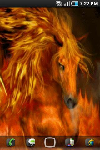 Fire Horse Live Wallpaper - screenshot