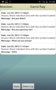 Advanced Call or Sms Blocker screenshot