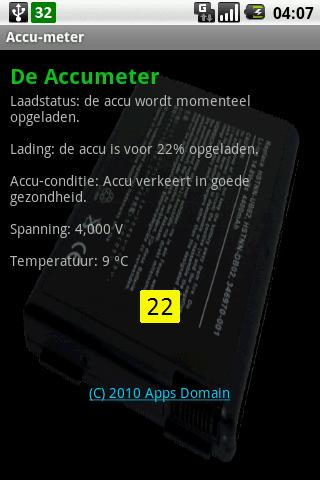 The Accu meter - screenshot