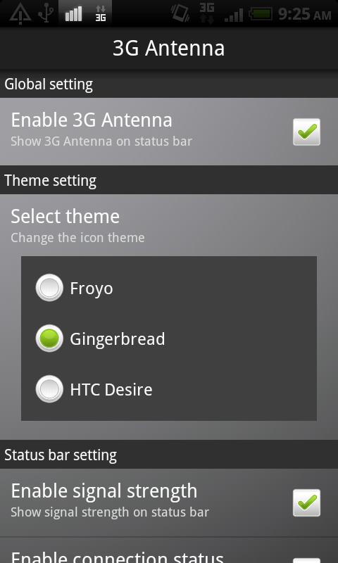 3G Antenna- screenshot