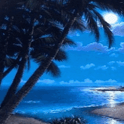 Caribbean Sea Moonlight Live W icon