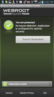 SecureAnywhere Antivirus: miniatura de captura de pantalla
