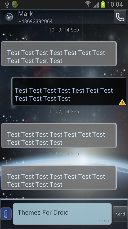 GO SMS Pro Theme Universe - screenshot