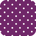 PURPLE POLKA DOT ♥ GO LAUNCHER logo