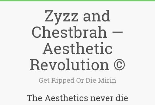 Zyzz and Chestbrah - Aesthetic