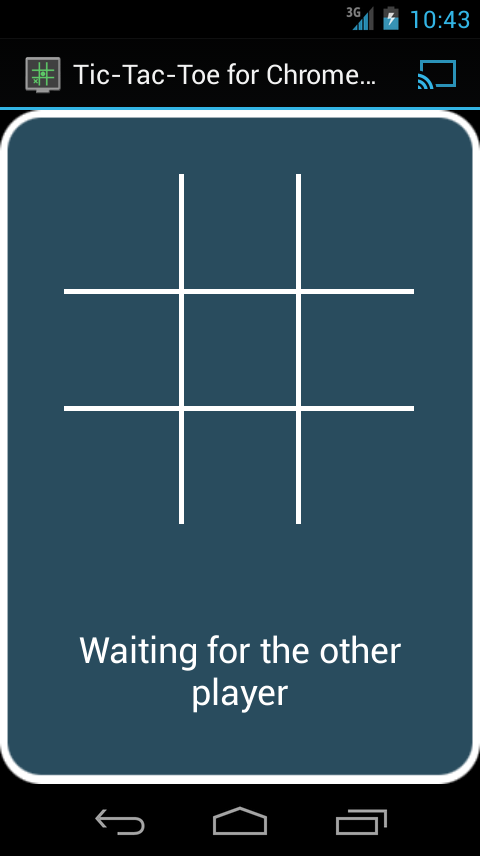 TicTacToe for Chromecast- screenshot
