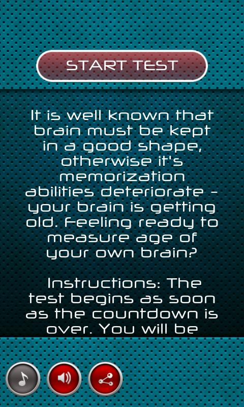 Brain Age Test- screenshot