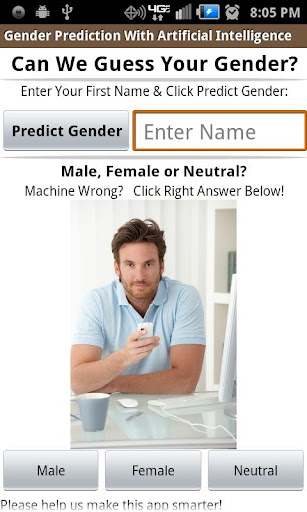 Gender Prediction by 1st Name
