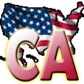 USA California clock flag