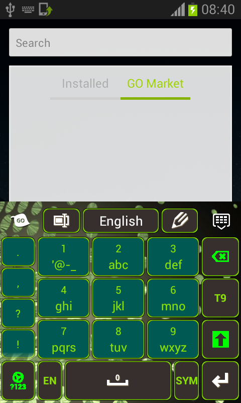 Green Light Keyboard - screenshot