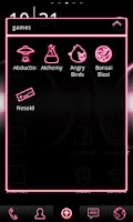 Screenshot of Neon Pink ADW Theme