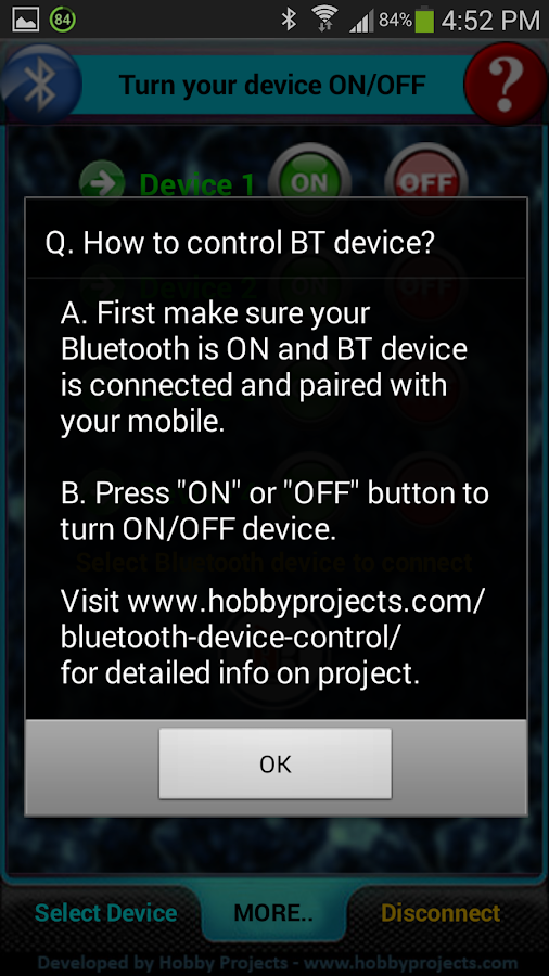 Bluetooth 2 Relays Control Pro - screenshot