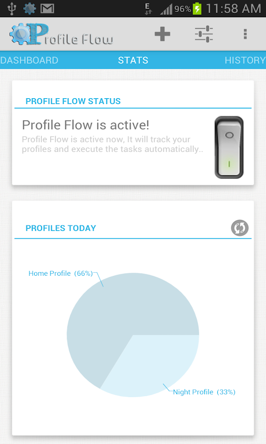 Profile Flow - screenshot