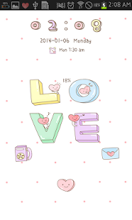 LOVE go locker theme - screenshot thumbnail